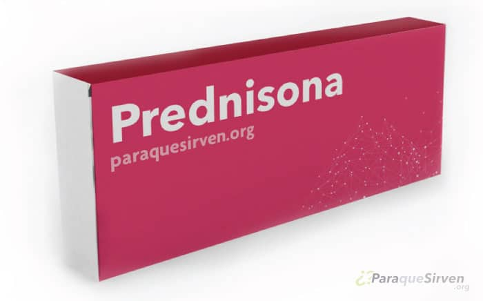 Prednisona muestra médica