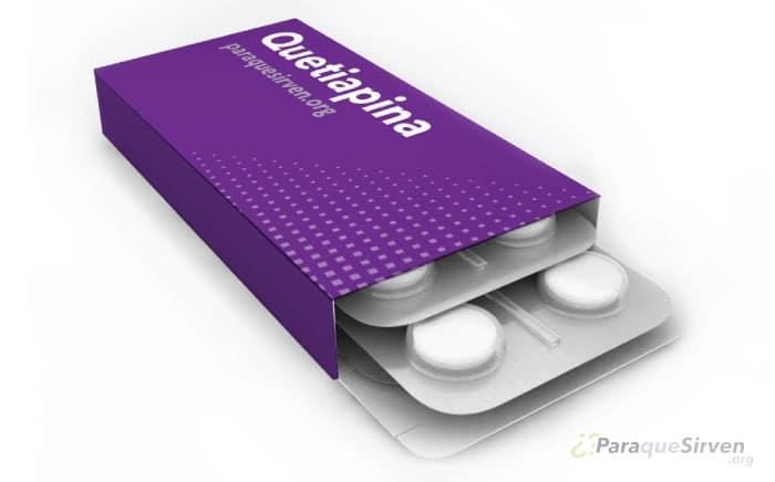 Muestra médica de Quetiapina medicamento para el tratamiento de las alucinaciones