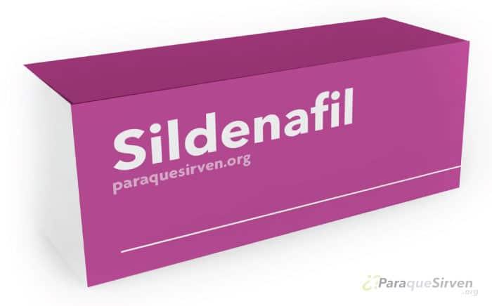Caja de sildenafil para mejorar la salud sexual